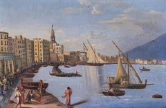 Naples during the Napoleonic occupation, oil on canvas painting, circa 1810