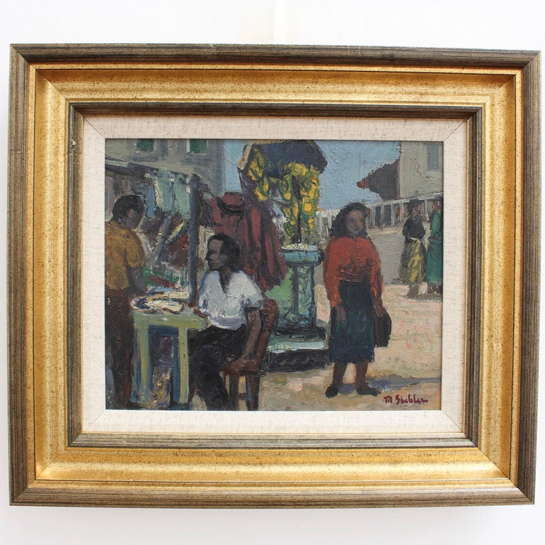 Naples Street Scene - Painting by Unknown