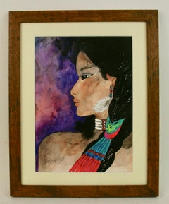 Native American Girl Portrait