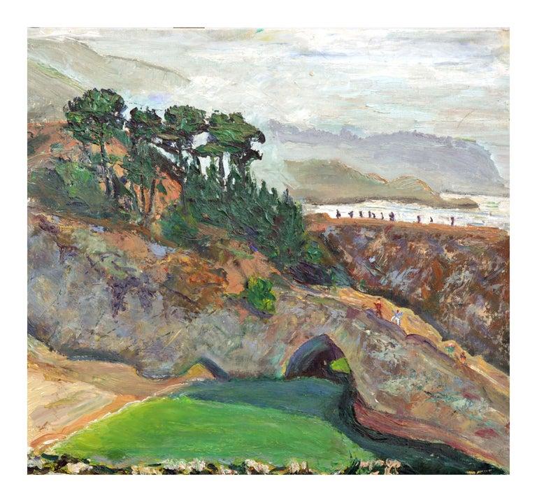 Natural Bridges, Santa Cruz, California - Figurative Landscape  - Painting by Unknown