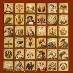 NEAPOLITAN MANUFACTURER,  Biribi game, early 19th, oil on panel