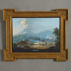 Neapolitan School, A 19th century View of Vesuvius