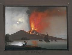 Neapolitan Vesuvius Gouache