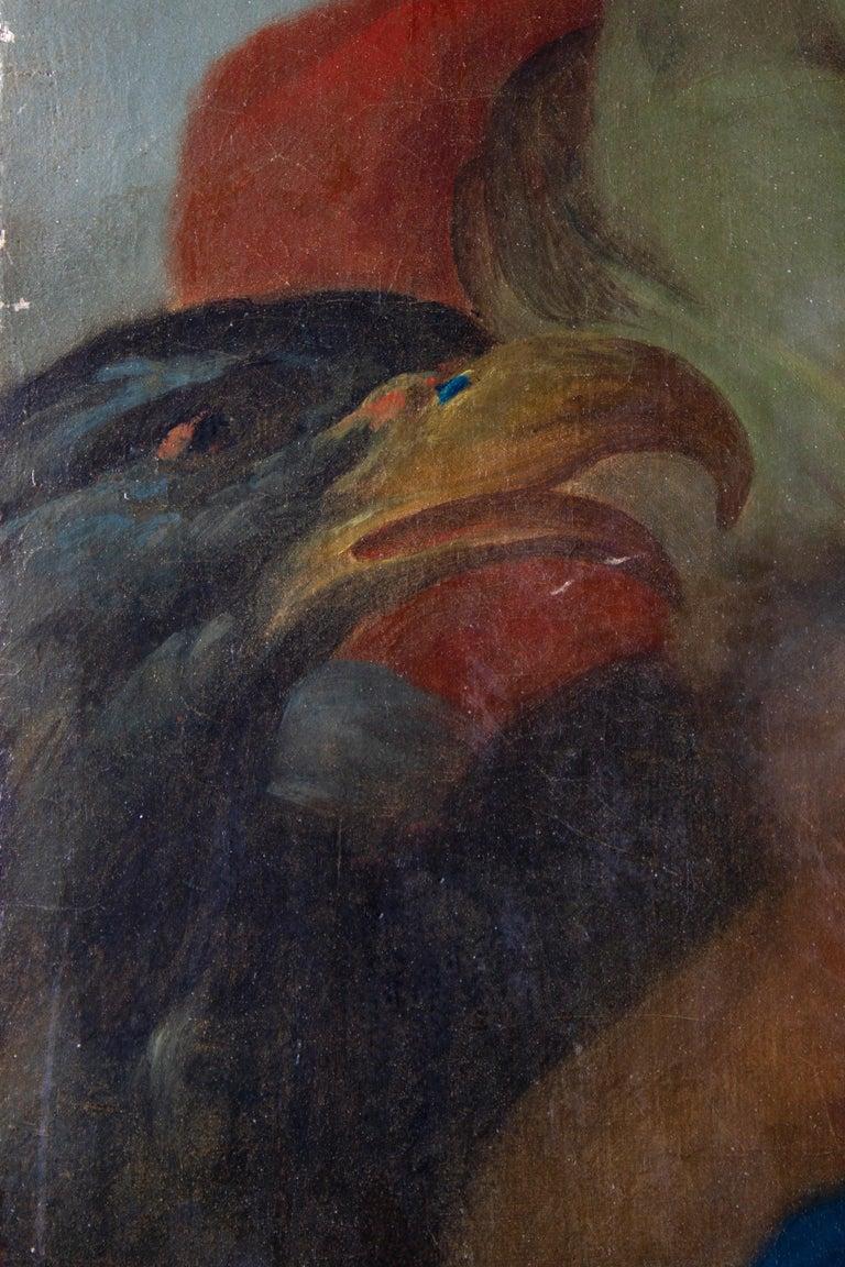 Neoclassic Mythological Painting Jupiter Seduce Callisto  For Sale 7