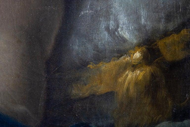 Neoclassic Mythological Painting Jupiter Seduce Callisto  For Sale 8