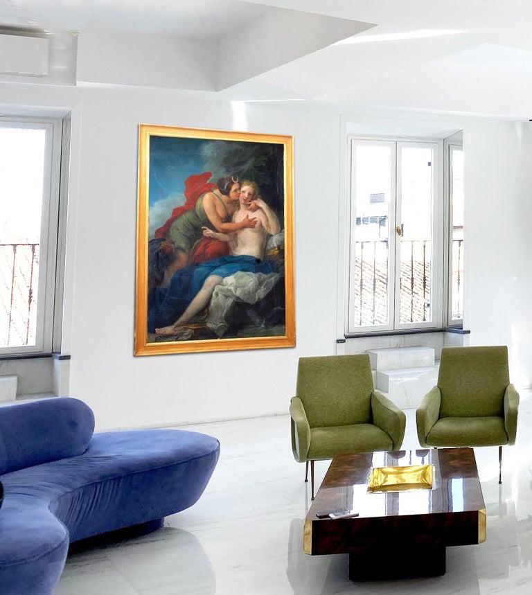 Neoclassic Mythological Painting Jupiter Seduce Callisto  For Sale 10