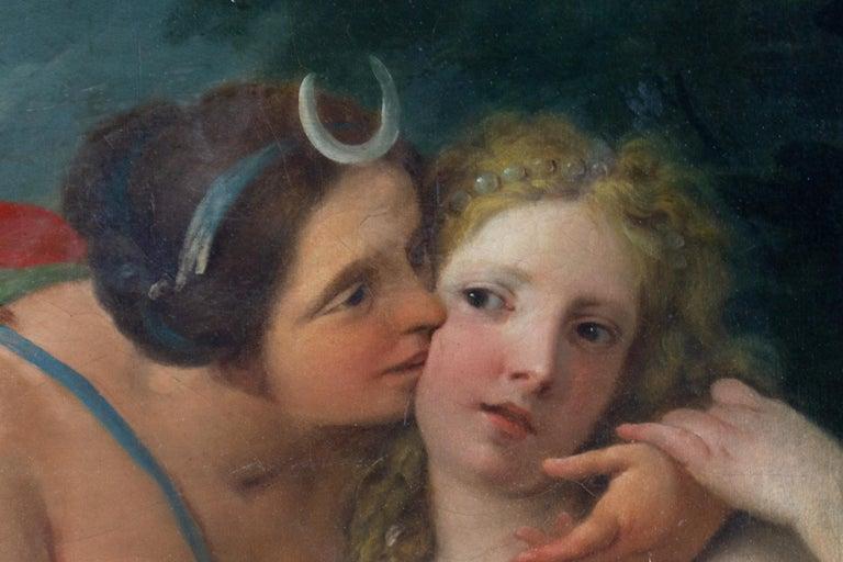 Neoclassic Mythological Painting Jupiter Seduce Callisto  For Sale 1