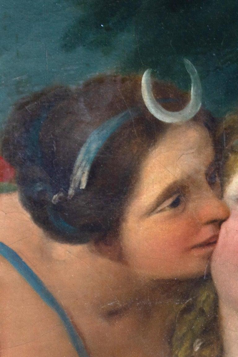 Neoclassic Mythological Painting Jupiter Seduce Callisto  For Sale 2
