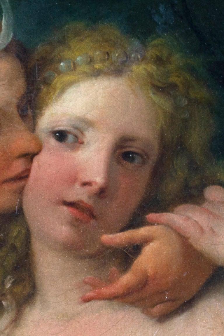Neoclassic Mythological Painting Jupiter Seduce Callisto  For Sale 3