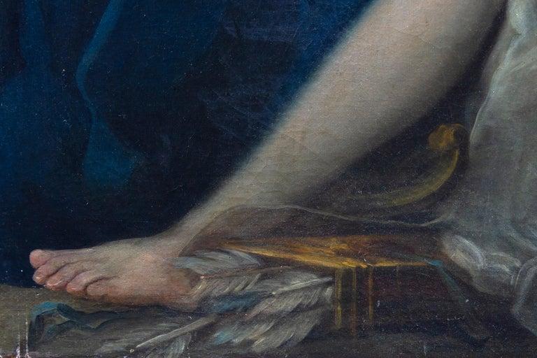Neoclassic Mythological Painting Jupiter Seduce Callisto  For Sale 5