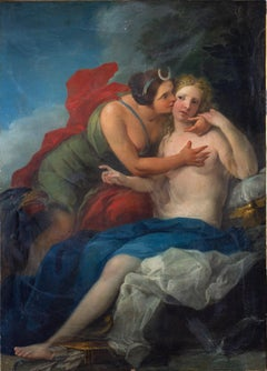 Neoclassic Mythological Painting Jupiter Seduce Callisto