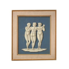 Neoclassical Decorative Element The Three Graces Painting 18th Century
