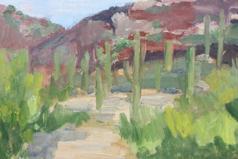 New Mexico or West Texas Desert Painterly Landscape - Contemporary Painting by Unknown