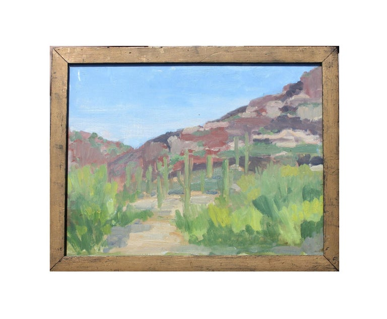 Unknown Landscape Painting - New Mexico or West Texas Desert Painterly Landscape