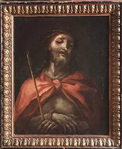 North Italian c.1600's Old Master Oil Painting - Ecce Homo Christ with Thorns