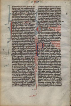 Obedient Unto Death - 1240 Latin Medieval Bible Manuscript - pen ink religious