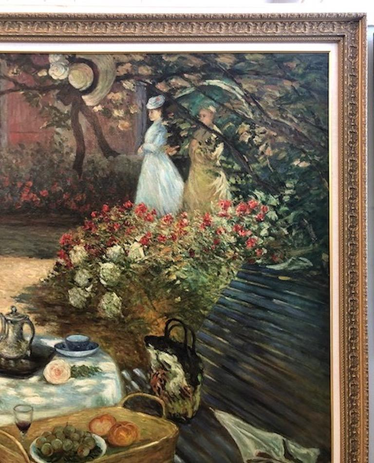 Oil Painting in Style of Claude Monet For Sale 3