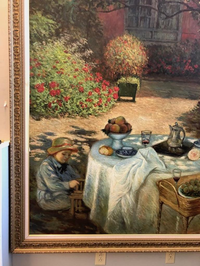 Oil Painting in Style of Claude Monet For Sale 4