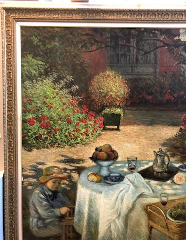 Oil Painting in Style of Claude Monet For Sale 5
