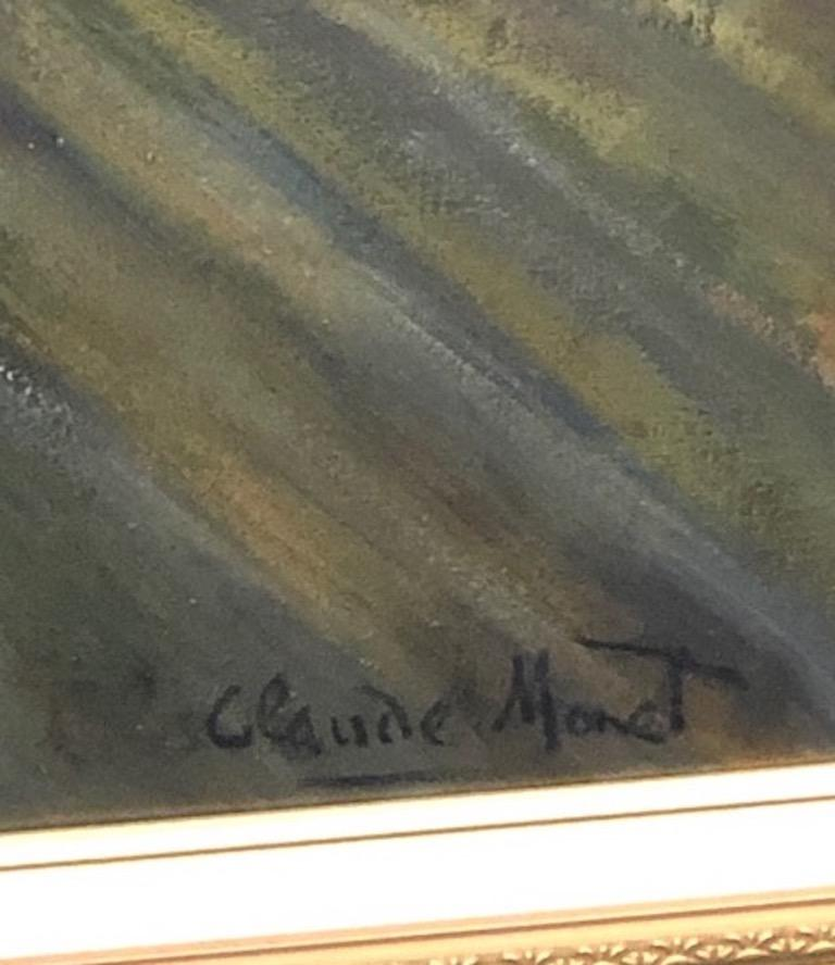 Oil Painting in Style of Claude Monet For Sale 6