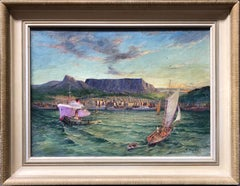 Oil Painting, Table Mountain South Africa, Signed G Walker (57)