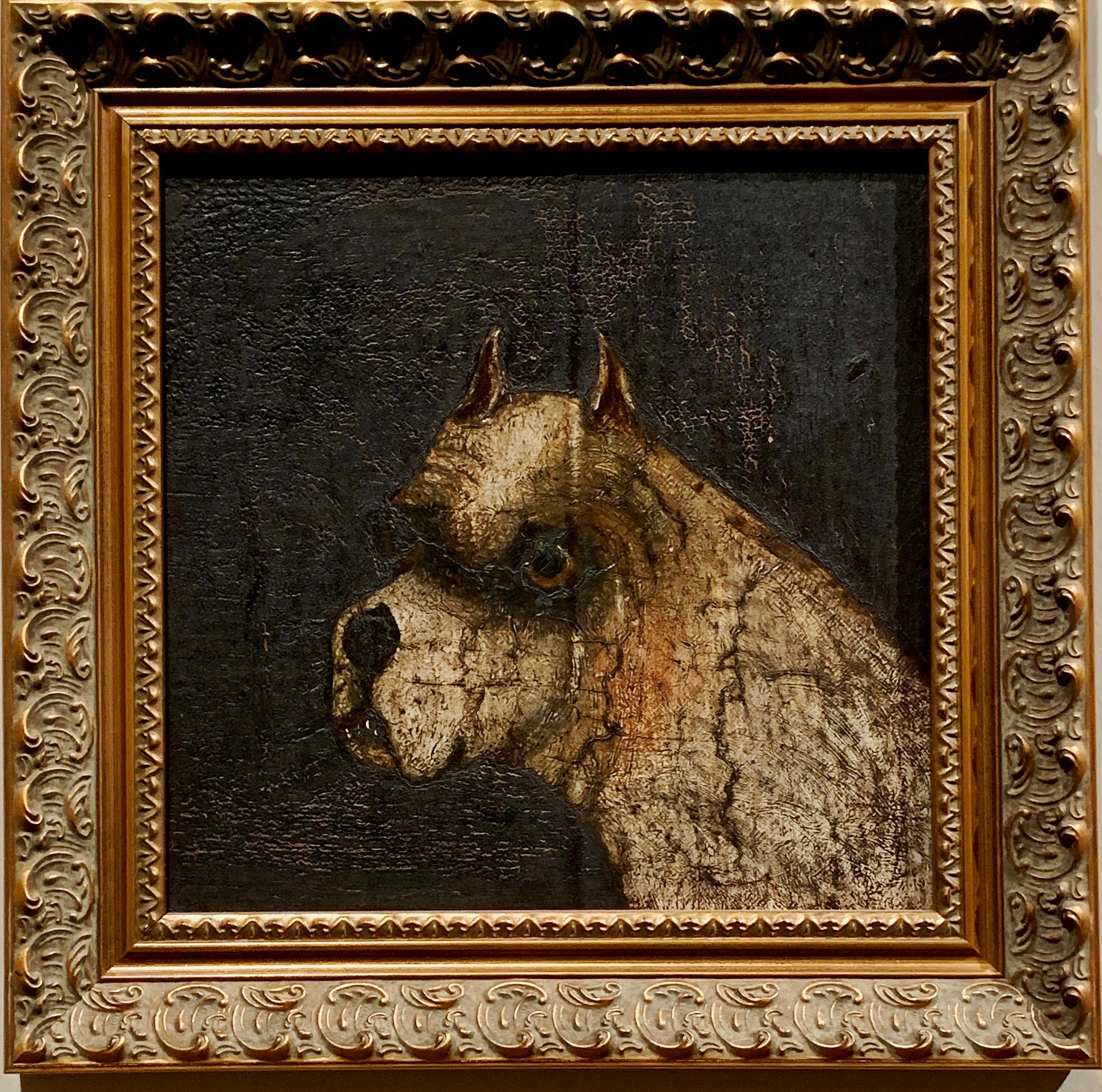 """""""Old English Bulldog"""" Dog Portrait British School"""
