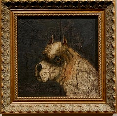 """Old English Bulldog"" Dog Portrait British School"