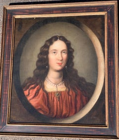 Old Master Italian 17th Century portrait of a Young Girl.