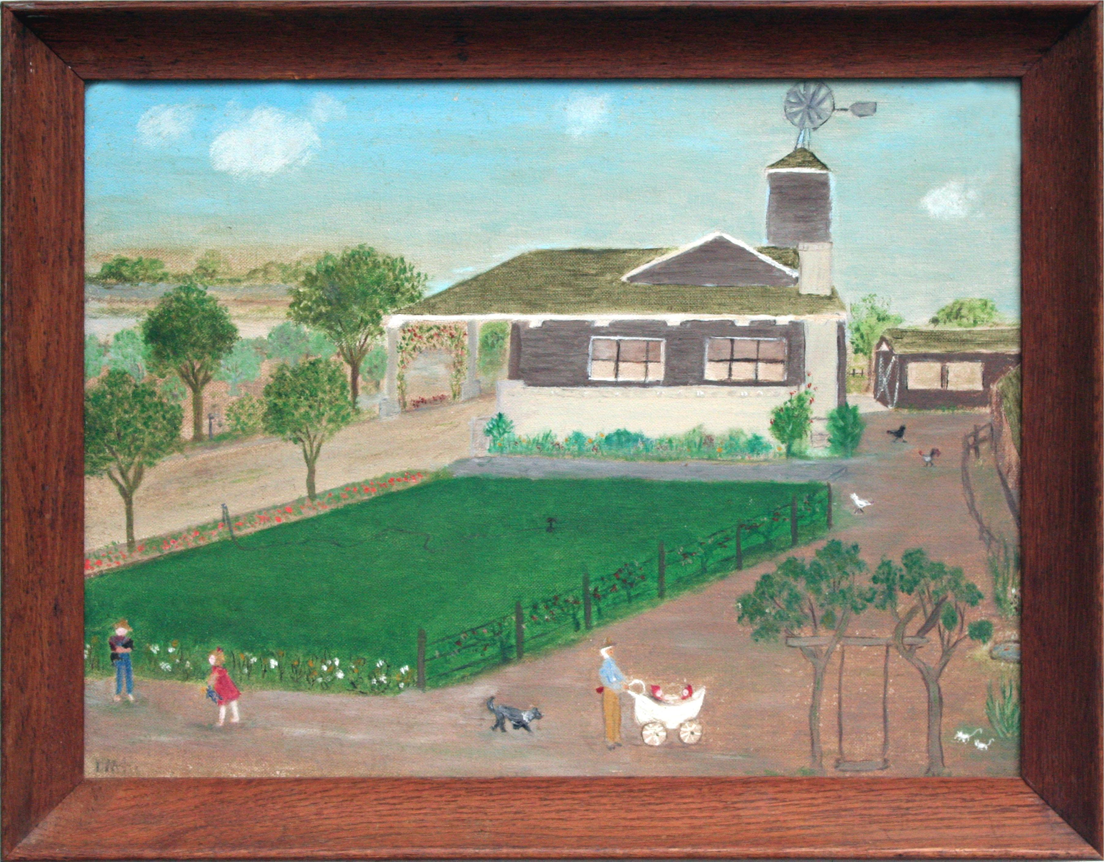 """""""Once Upon a Time"""" Mid Century Figurative Landscape"""