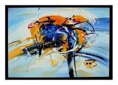 Orange and Blue Kinetics Abstract