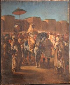 Oriental Scene - Oil on Canvas 19th Century