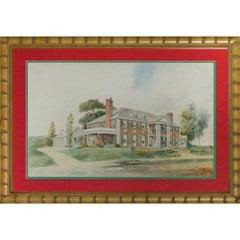 "Original Watercolour ""Clarence Birdseye Estate"" in Gloucester, MA"