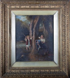 Ornate Framed Mid 19th Century Oil - The Woodland Game