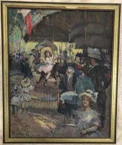 Otto Henry Schneider Paris Carousel Scene