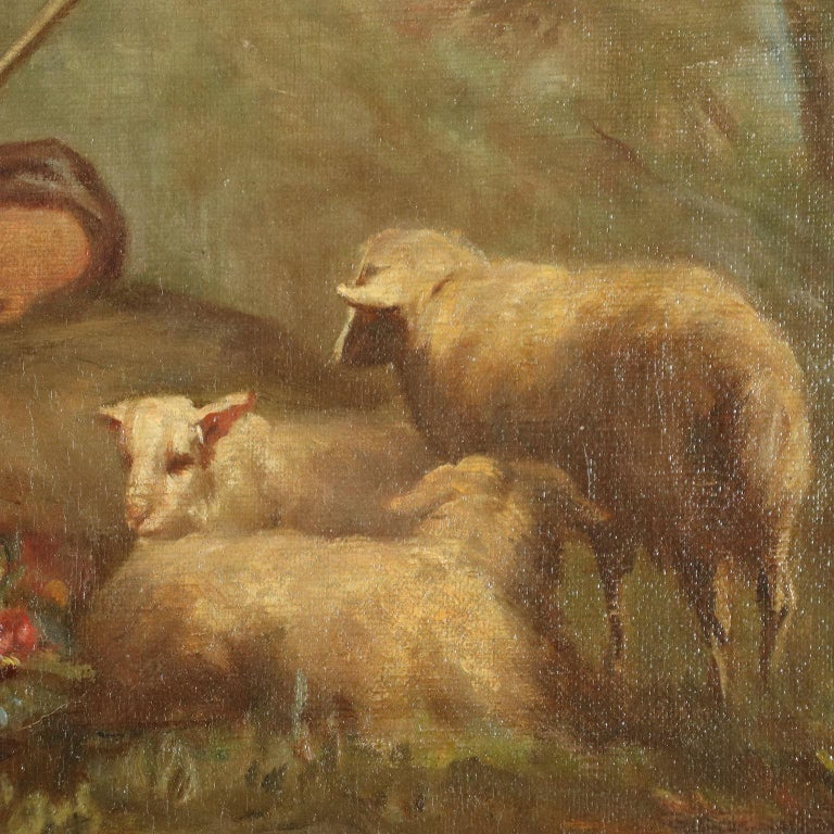 Overdoor With Bucolic Painting 19th Century For Sale 4