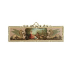 Overdoor With Bucolic Painting 19th Century