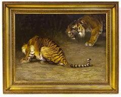 Painting 19th Century - Tigers