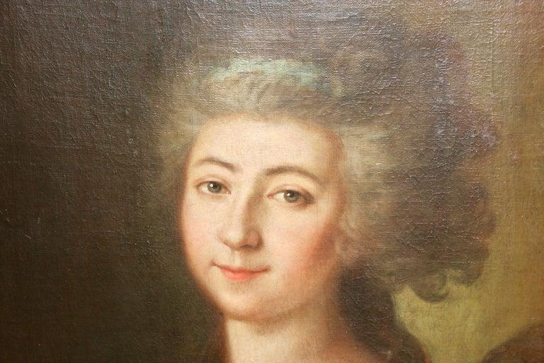 Painting, 19th century, women portrait, oil on canvas.  For Sale 1