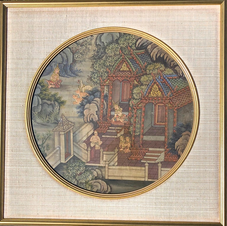 Thai Warriors Paintings Pair For Sale 2