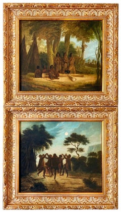 19th century paintings of Native Americans - Historical Genre America Wigwam