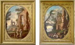 "Pair of Genoese ""Capricci"" — Italian Unknow Painter"