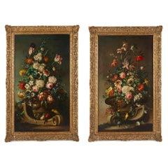 Pair of impressive Dutch flower paintings