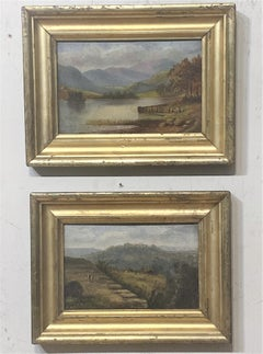 Pair of Small Framed Landscapes, circa 1870  One American one English