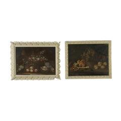 Pair Of Still Lifes Oil On Canvas 18th Century