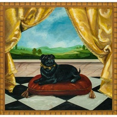 """Pampered Pug"" Acrylic on Board"