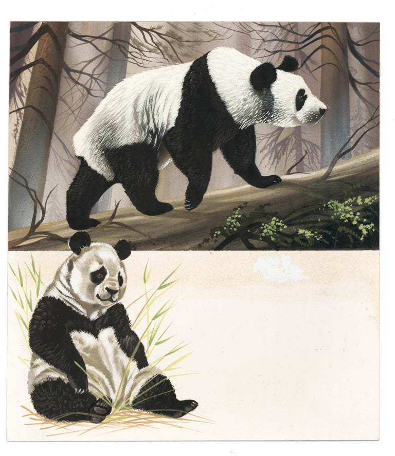 Panda Painting - Beige Animal Painting by Unknown