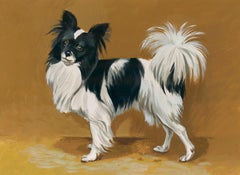 Papillon Dog Painting