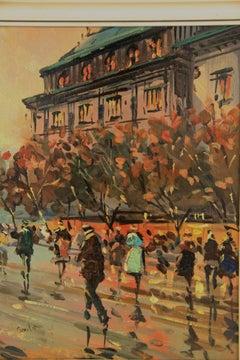 Paris in the Fall Impressionist Cityscape Landscape