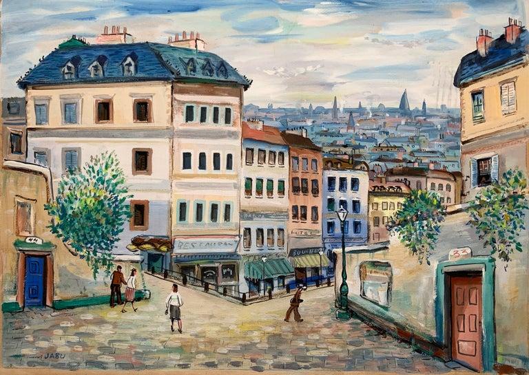 Paris (Montmartre Street Scene)  - Painting by Unknown