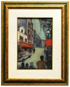 Paris - Original Oil on Cardboard by French Artist - Mid-20th Century